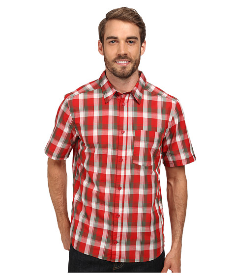 adidas Outdoor - Hiking Active Short Sleeve Shirt (Scarlet) Men