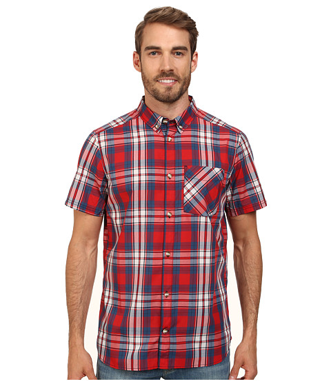 adidas Outdoor - Hiking Short Sleeve Shirt 2 (Scarlet) Men's Short Sleeve Button Up