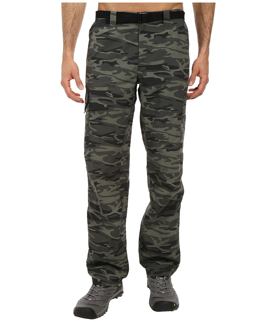 Columbia - Silver Ridge Printed Cargo Pant (Gravel Camo Print) Men's Casual Pants