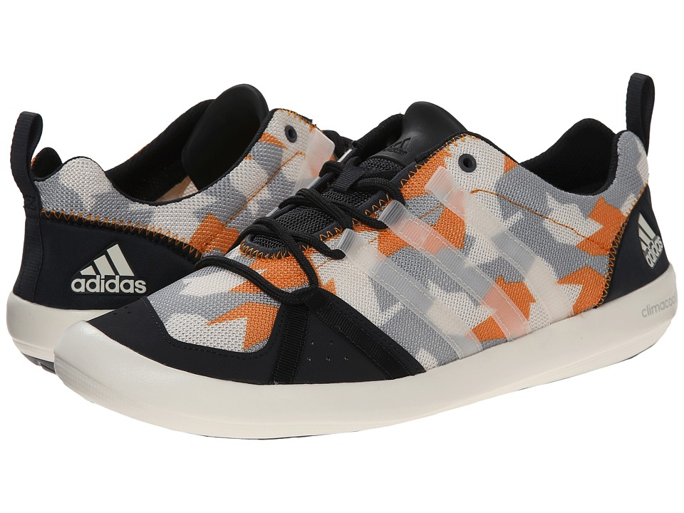 adidas Outdoor - CLIMACOOL Boat Lace Graphic (Dark Grey/Chalk White/Lucky Orange) Men