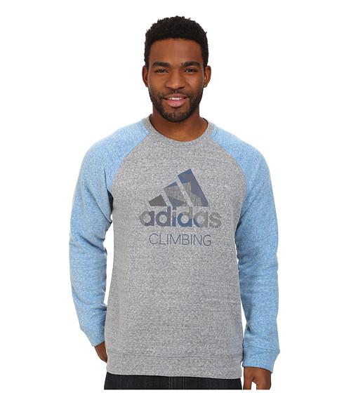 adidas Outdoor - Edo Logo Sweater (Grey/Blue Beauty) Men's Sweater