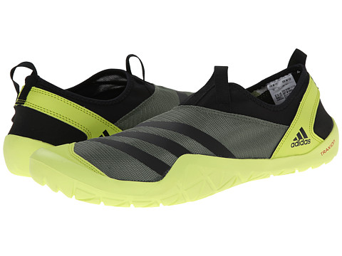 adidas Outdoor - CLIMACOOL Jawpaw Slip-On (Base Green/Black/Semi Solar Yellow) Men's Shoes