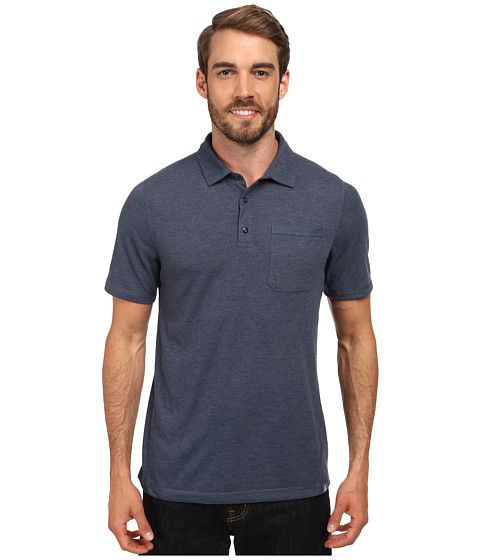 The North Face - Short Sleeve Meadowlake FlashDry Polo (Cosmic Blue Heather) Men