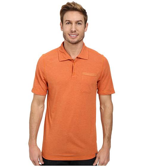 The North Face - Short Sleeve Meadowlake FlashDry Polo (Burnished Orange Heather) Men's Clothing