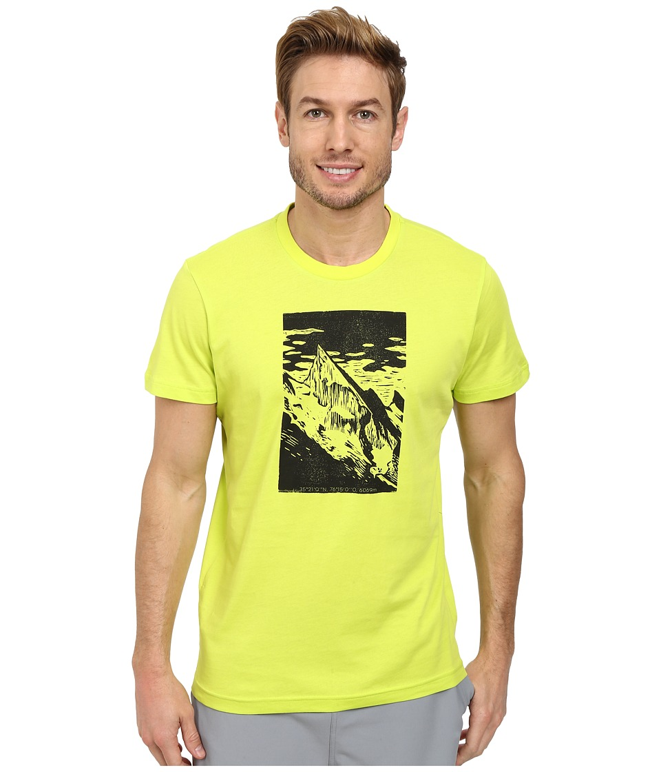 adidas Outdoor Hiking Mountain Tee (Semi Solar Yellow) Men