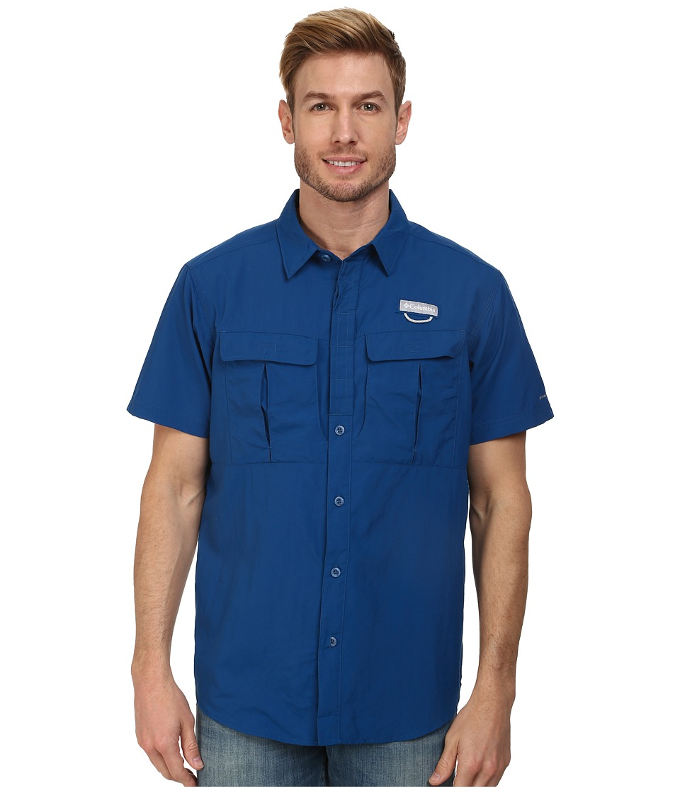 Columbia - Cascades Explorer S/S Shirt (Marine Blue) Men's Short Sleeve Button Up
