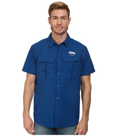 Columbia - Cascades Explorer S/S Shirt (Marine Blue) Men