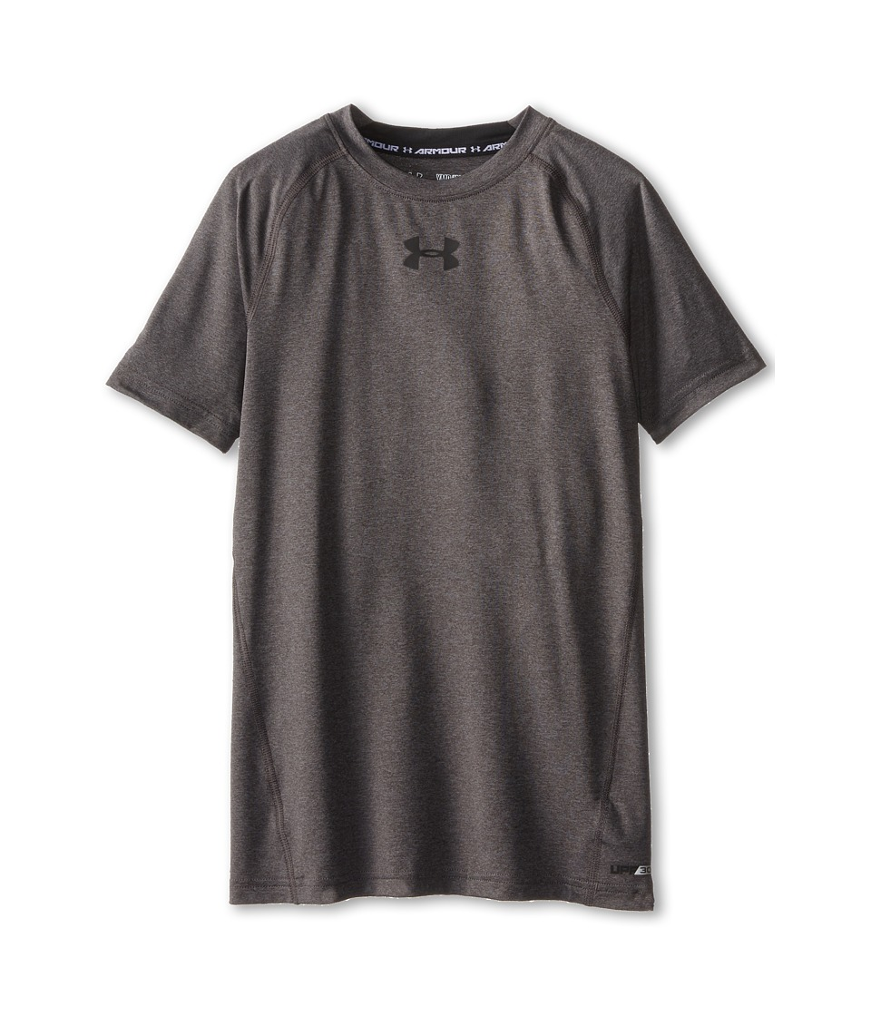 Under Armour Kids - Heatgear(r) Armour(r) Fitted S/S Tee (Big Kids) (White/Steel/Steel) Boy's Workout