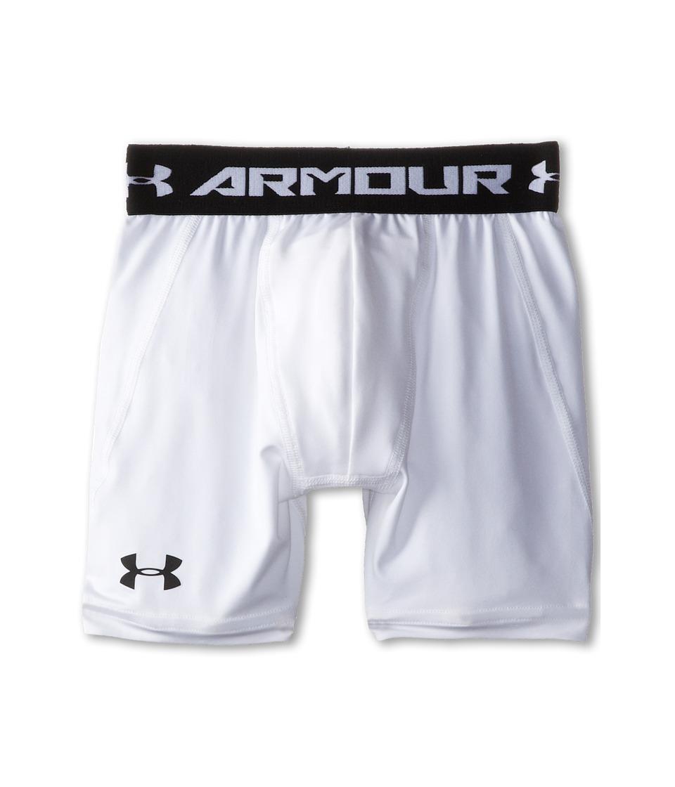 Under Armour Kids - Heatgear(r) Armour(r) Short Mid (Big Kids) (White/Black) Boy's Workout