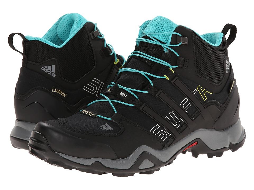 adidas Outdoor - Terrex Swift R Mid GTX W (Black/Vista Grey/Vivid Mint) Women's Shoes