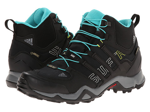 adidas Outdoor - Terrex Swift R Mid GTX W (Black/Vista Grey/Vivid Mint) Women