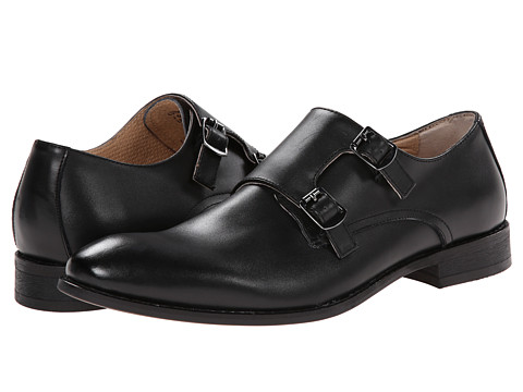 Robert Wayne - Luther (Black) Men's Monkstrap Shoes