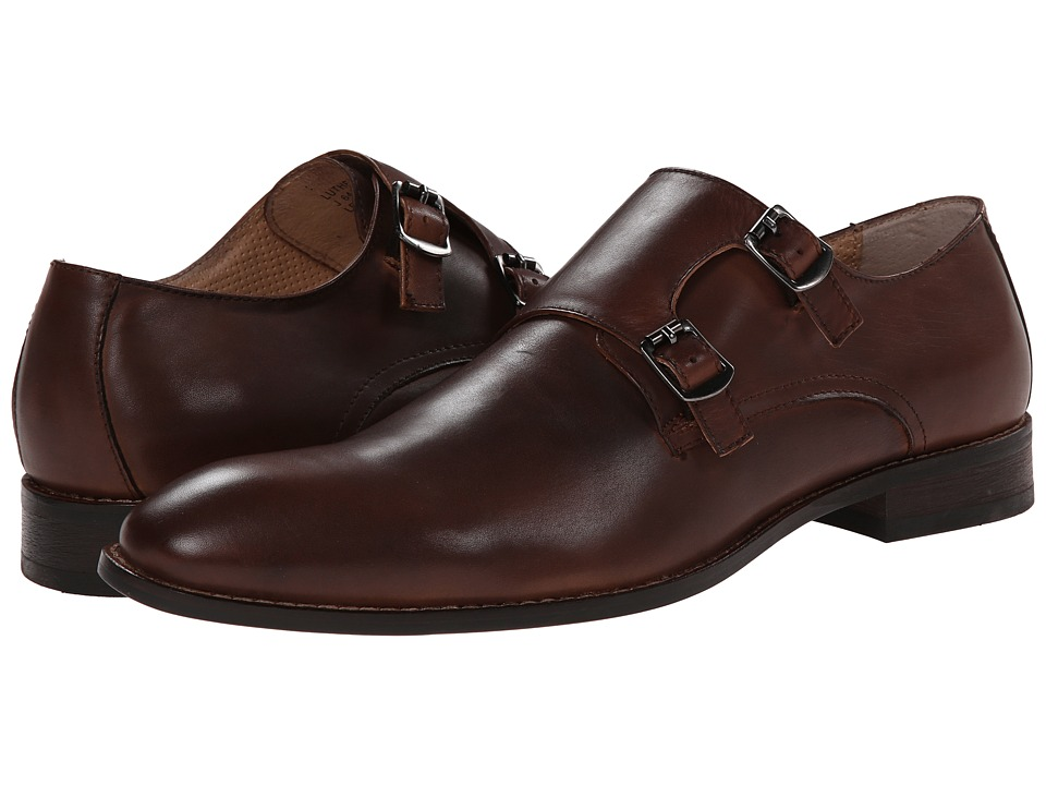 Robert Wayne - Luther (Tobacco) Men's Monkstrap Shoes