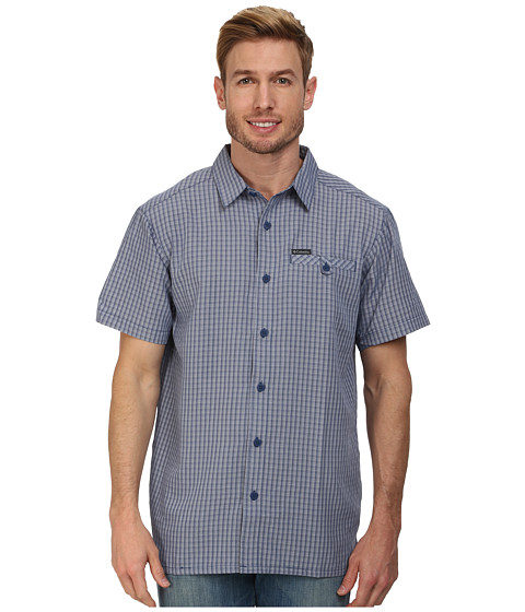 Columbia - Declination Trail II S/S Shirt (Carbon Plaid) Men's Short Sleeve Button Up