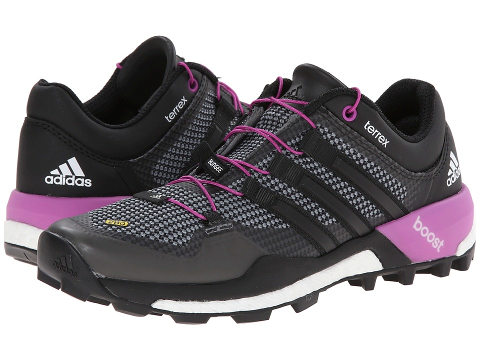 adidas Outdoor - Terrex Boost W (Vista Grey/Black/Flash Pink) Women's Running Shoes