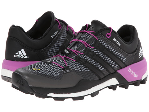 adidas Outdoor - Terrex Boost W (Vista Grey/Black/Flash Pink) Women's Running Shoes