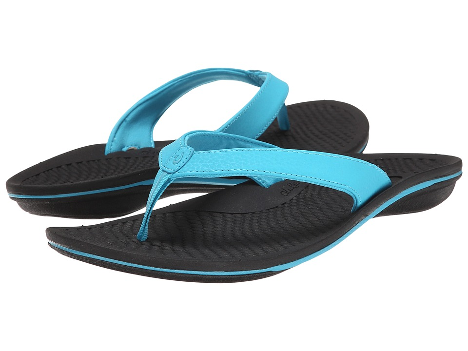 OluKai - Ono (Coastal Blue/Black) Women's Sandals