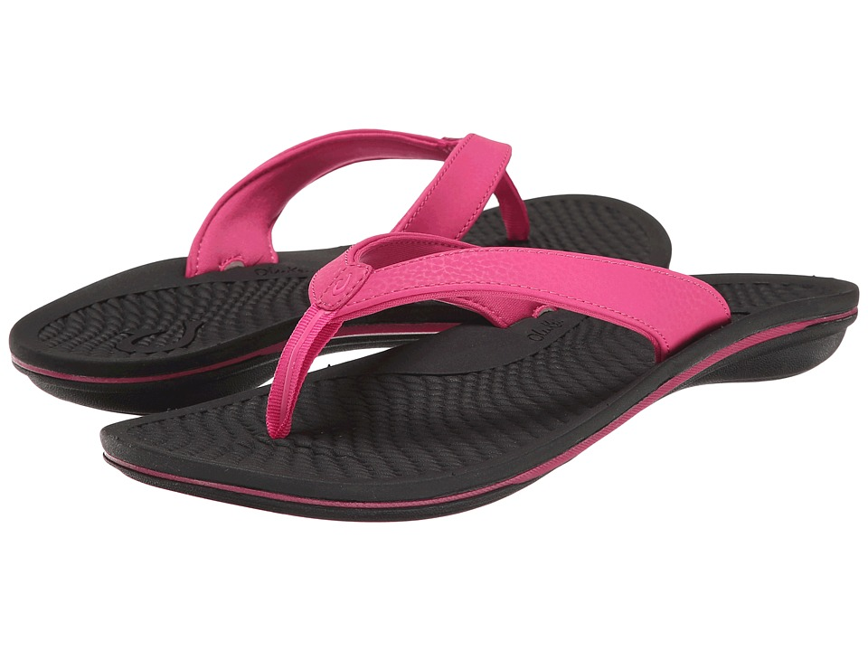 OluKai - Ono (Fuchsia/Black) Women's Sandals