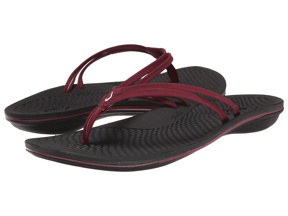 OluKai - Unahi (Beet Red/Black) Women's Sandals