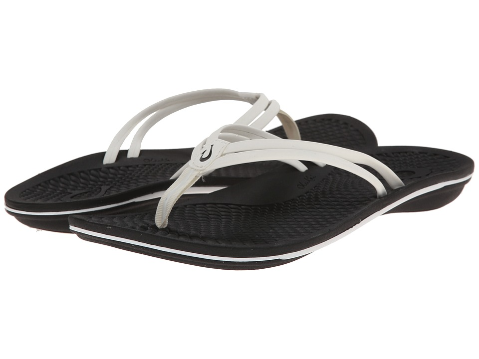 OluKai - Unahi (White/Black) Women's Sandals