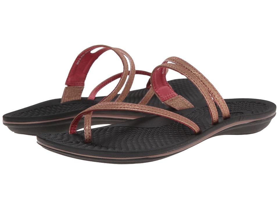 OluKai - Ma'a Kai (Rose Gold/Black) Women's Sandals