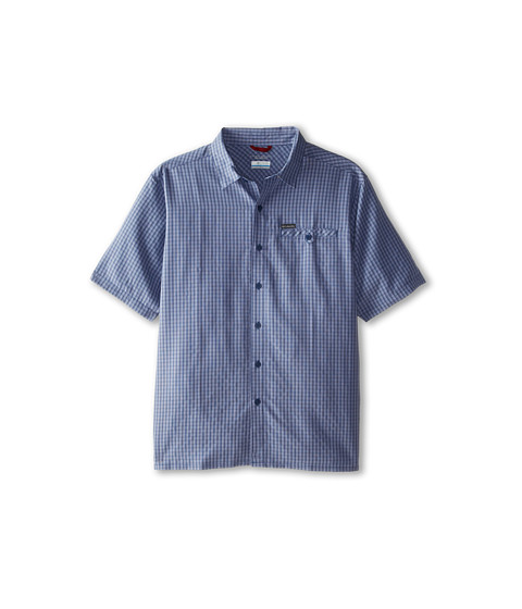 Columbia - Big Tall Declination Trail II S/S Shirt (Carbon Plaid) Men's Short Sleeve Button Up