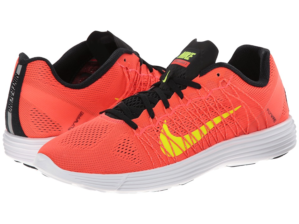 Nike - Lunaracer+ 3 (Bright Crimson/White/Black/Volt) Men