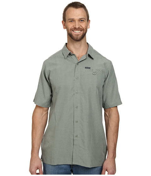 Columbia - Declination Trail II S/S Shirt (Sedona Sage Plaid) Men's Short Sleeve Button Up