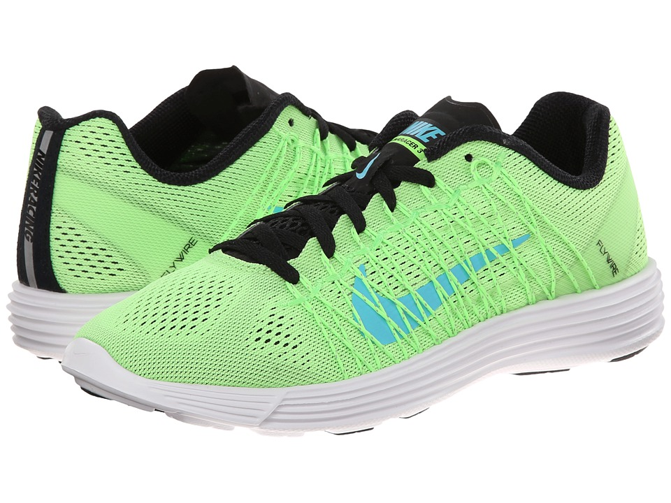 Nike - Lunaracer+ 3 (Flash Lime/White/Black/Clearwater) Women's Running Shoes