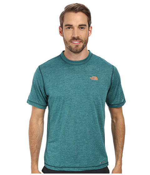 The North Face - Short Sleeve Horizon Crew (Deep Teal Blue) Men's T Shirt