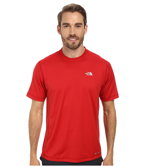 The North Face - Short Sleeve Horizon Crew (Rage Red) Men