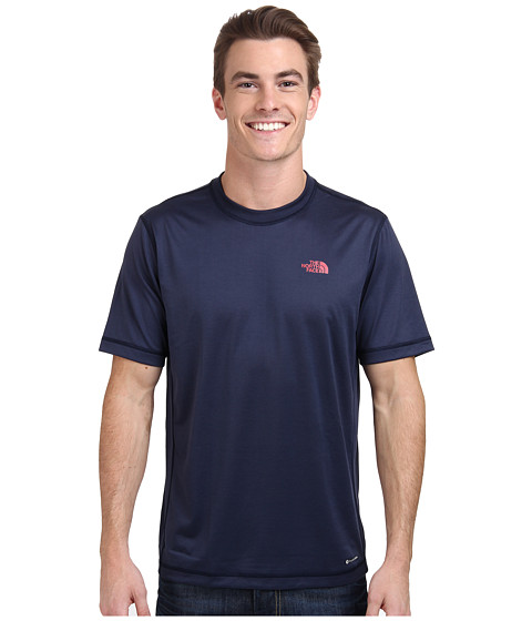 The North Face - Short Sleeve Horizon Crew (Cosmic Blue) Men