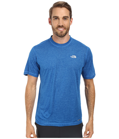 The North Face - Short Sleeve Horizon Crew (Clear Lake Blue Heather) Men