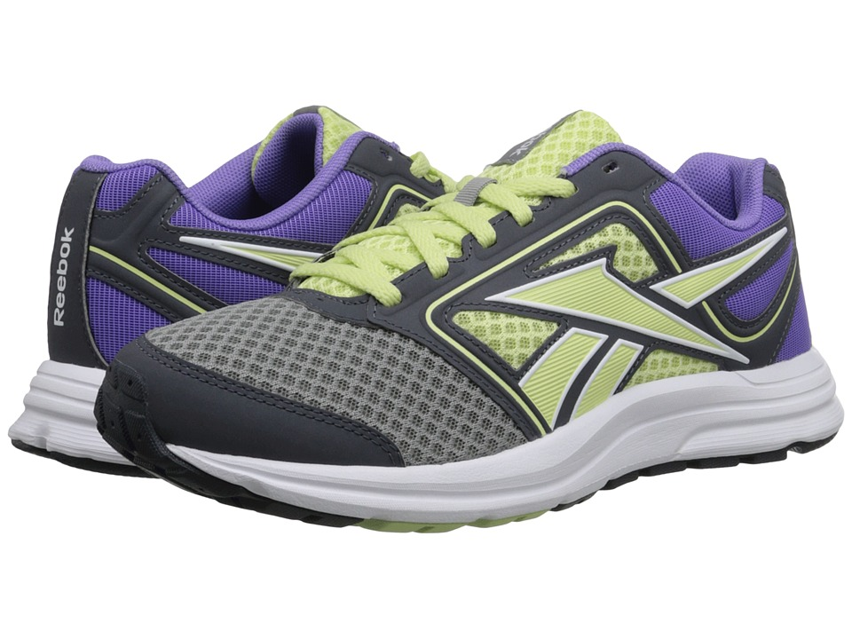 Reebok - Zone CushRun MT (Flat Grey/Citrus Glow/Lush Orchid/Graphite/White/Steel) Women's Shoes