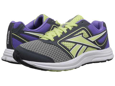 Reebok - Zone Cushrun MT (Flat Grey/Citrus Glow/Lush Orchid/Graphite/White/Steel) Women
