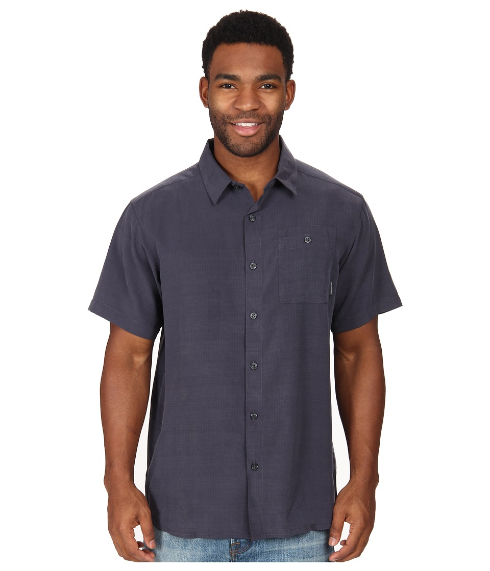 Columbia - Mossy Trail S/S Shirt (India Ink Slub) Men's Short Sleeve Button Up