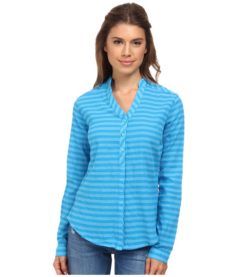 Mountain Hardwear - DaraLake Gauze L/S Shirt (Atoll) Women's Blouse