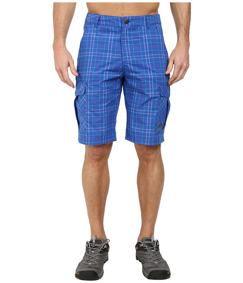 adidas Outdoor - Edo Check Shorts (Blue Beauty) Men