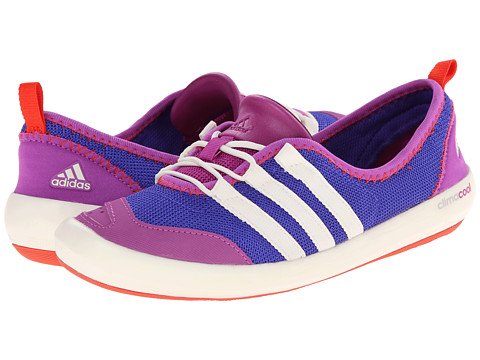 adidas Outdoor - CLIMACOOL Boat Sleek (Night Flash/Chalk White/Flash Pink) Women