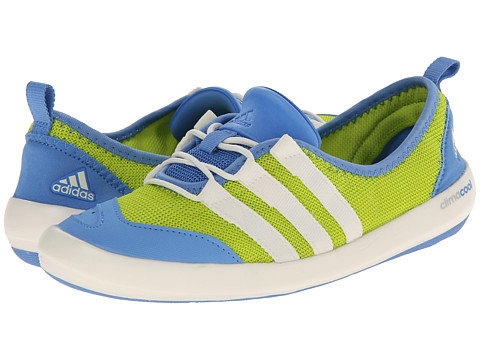 adidas Outdoor - CLIMACOOL Boat Sleek (Semi Solar Yellow/Chalk White/Lucky Blue) Women's Shoes