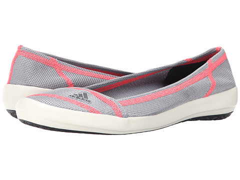 adidas Outdoor - Boat Slip-On Sleek (Mid Grey/Dark Grey/Flash Red) Women's Shoes
