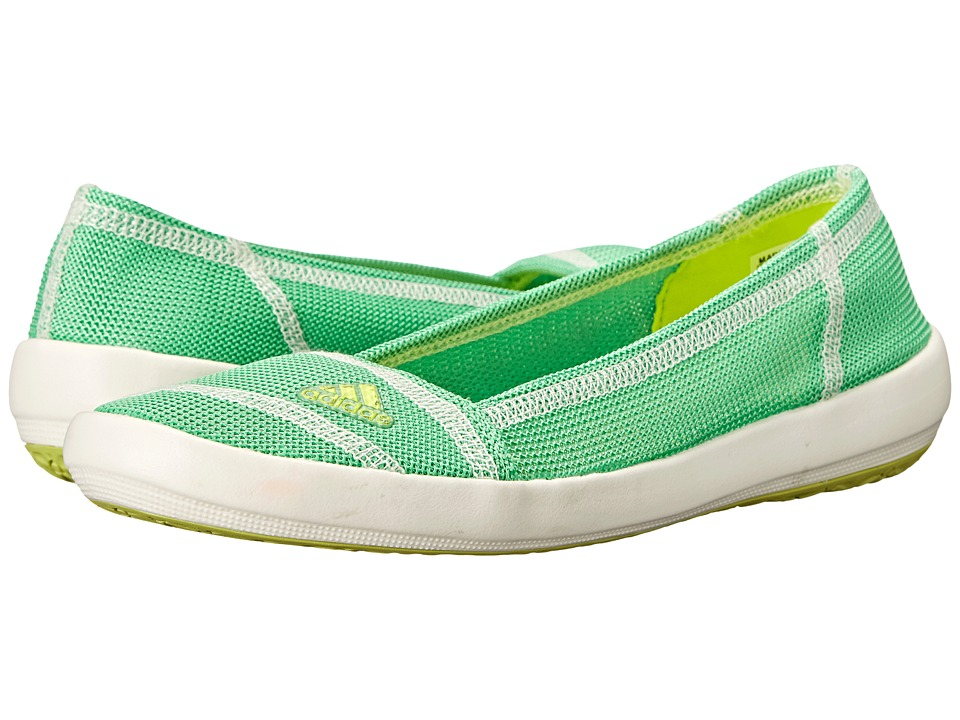 adidas Outdoor - Boat Slip-On Sleek (Semi Solar Yellow/Semi Flash Green/Chalk White) Women's Shoes
