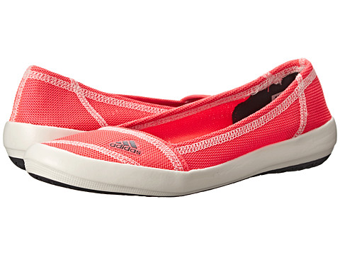 adidas Outdoor - Boat Slip-On Sleek (Flash Red/Dark Grey/Chalk White) Women