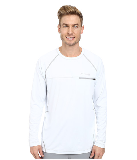 Columbia - Cool Catch Tech Zero L/S (White) Men's Long Sleeve Pullover