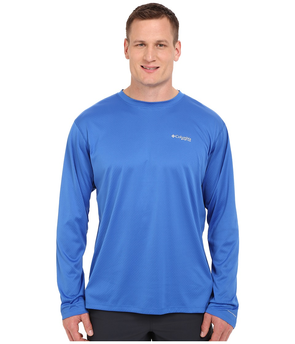Columbia - PFG ZERO Rules L/S Shirt - Big (Vivid Blue) Men's Long Sleeve Pullover