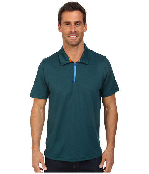 The North Face - Short Sleeve Groveland FlashDry Polo (Deep Teal Blue) Men
