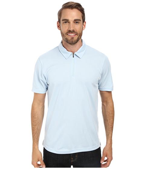 The North Face - Short Sleeve Groveland FlashDry Polo (Tofino Blue) Men