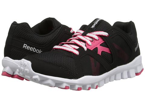 Reebok - RealFlex Train RS 2.0 (Black/White/Blazing Pink/Silver Metallic) Women