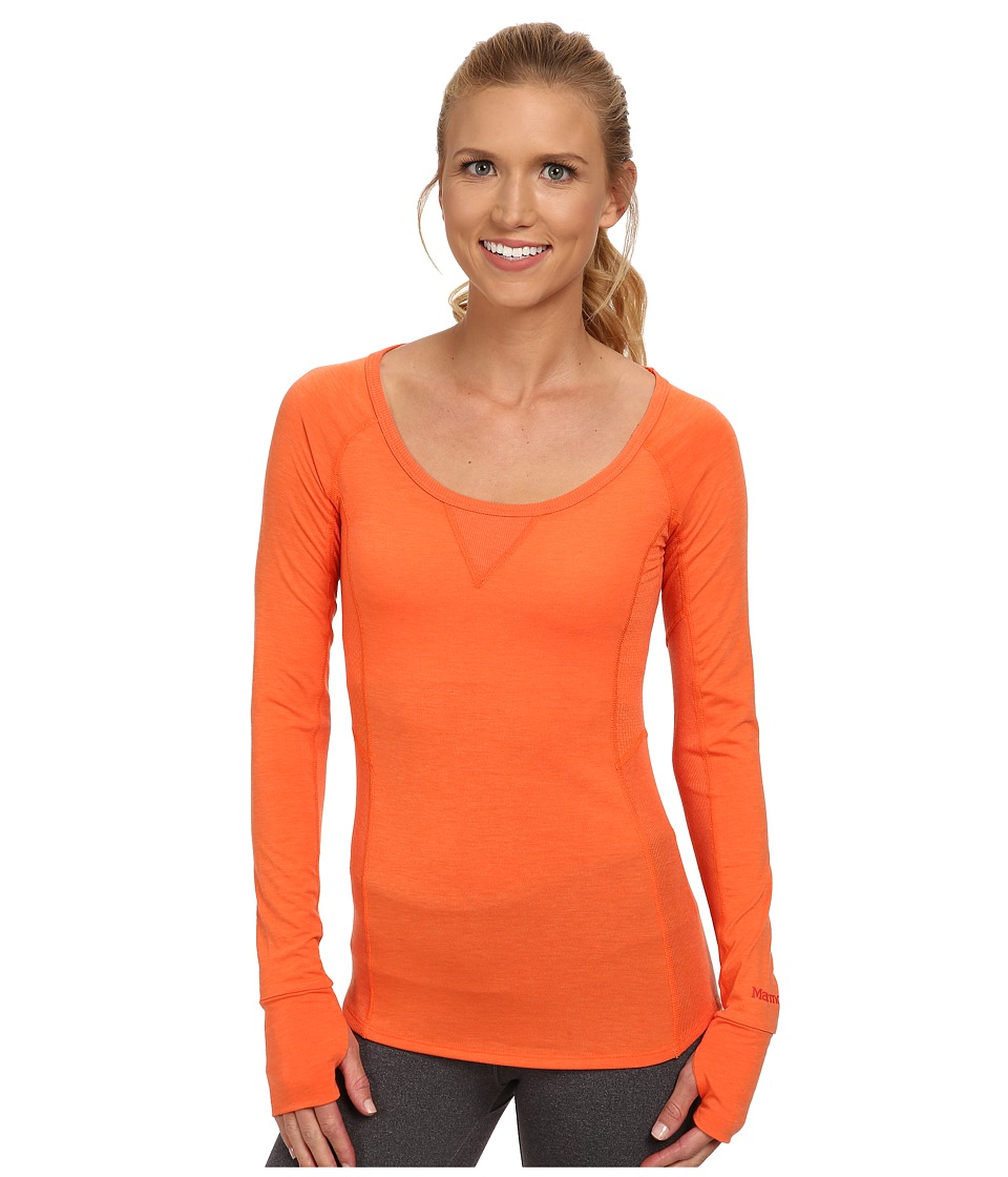Marmot - Helen L/S (Orange Coral) Women's Clothing