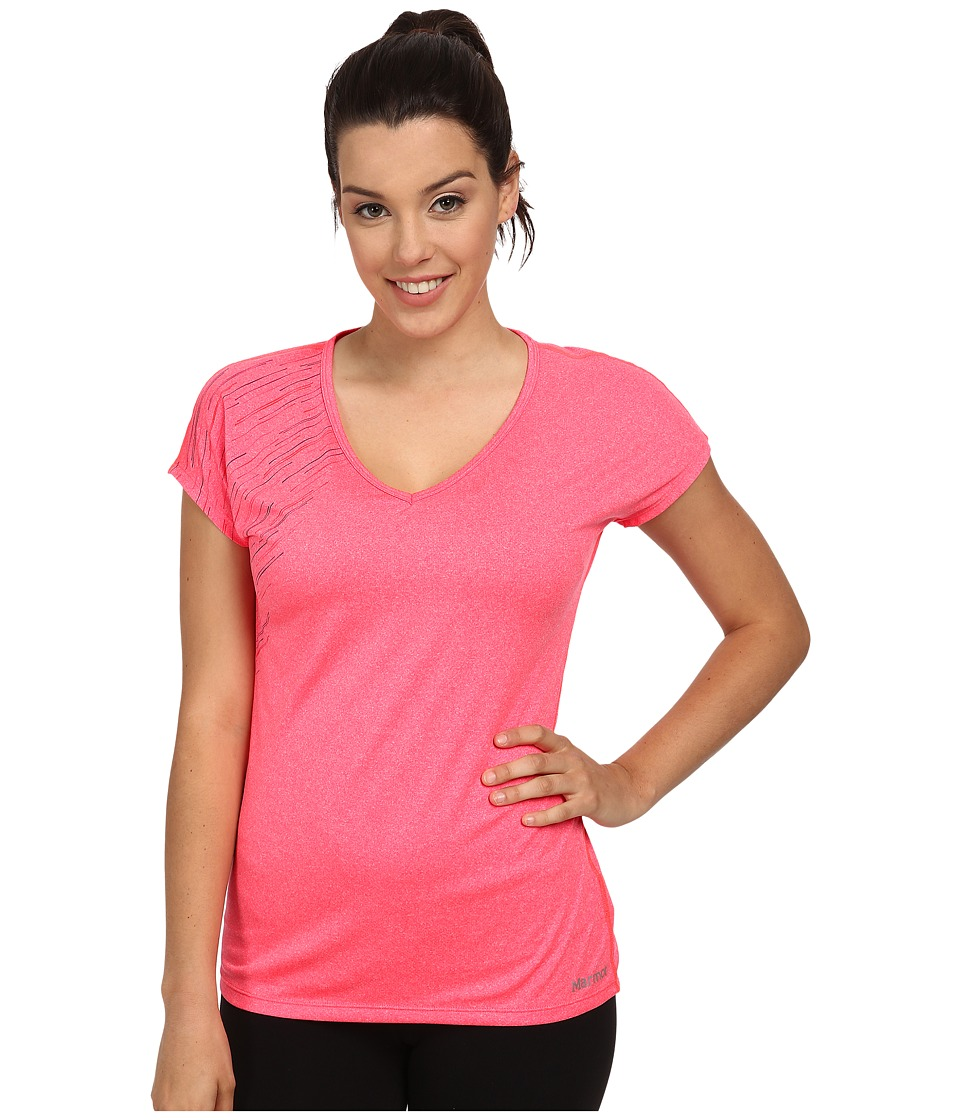 Marmot Layer Up Tee S/S (Bright Pink Heather) Women